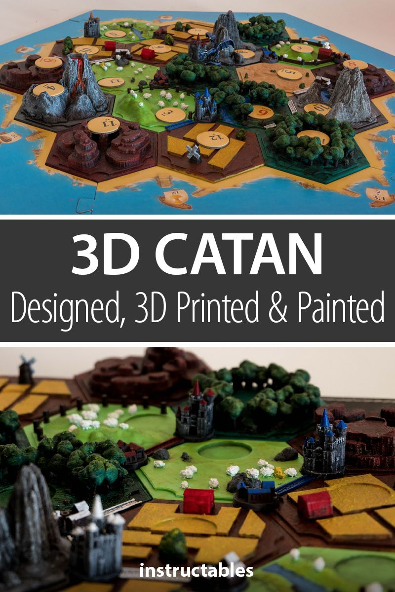 3D Catan. Designed, 3D Printed and Painted.