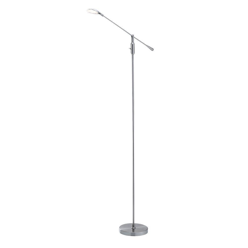 omega 1light led floor lamp in satin steel by adesso