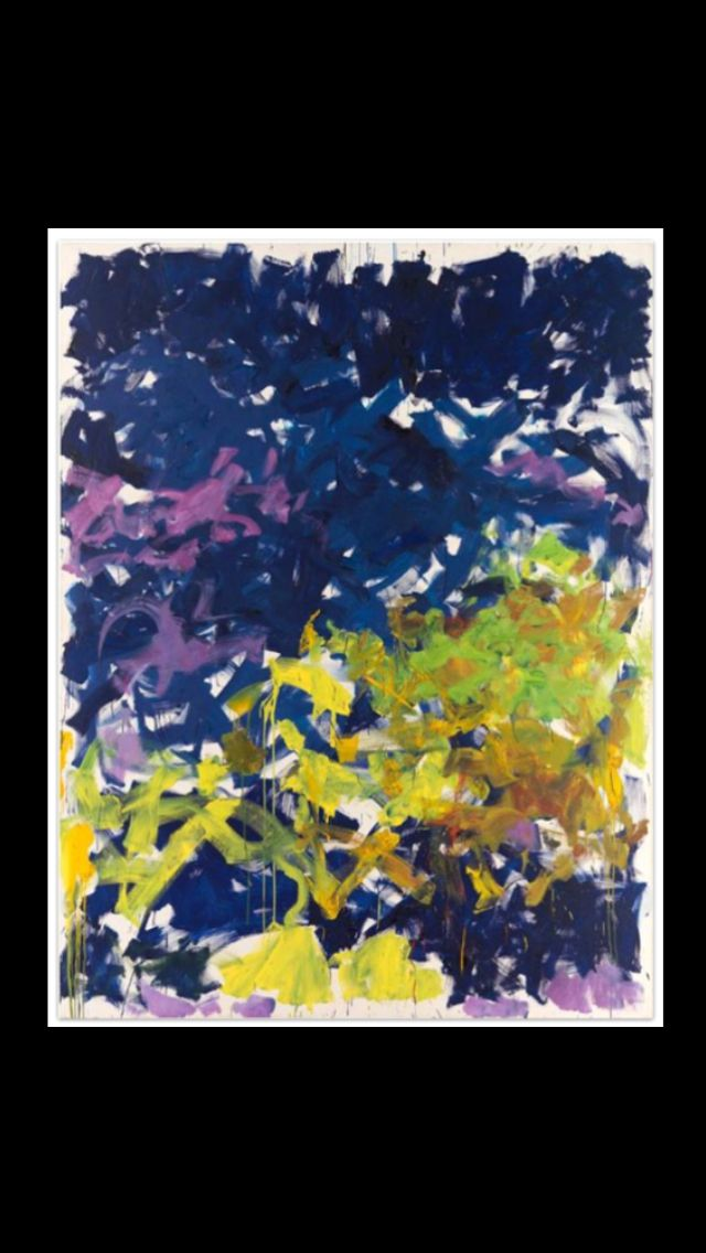 Joan Mitchell La Grande Vallee Xvi Pour Iva 1983 Oil On Canvas 260 X 200 Cm Joan Mitchell Abstract Painting