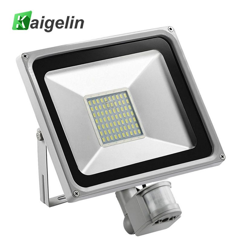 50w Pir Infrared Motion Sensor Flood Light 220v 240v Smd 5730 5500lm Pir Sensor Led Floodlight Led Lamp Led Flood Lights Outdoor Lighting Outdoor Flood Lights