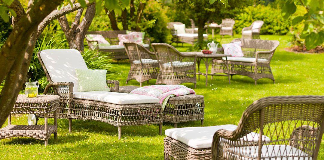 Muebles de jardín que invitan a pasar tiempo disfrutando del buen ...