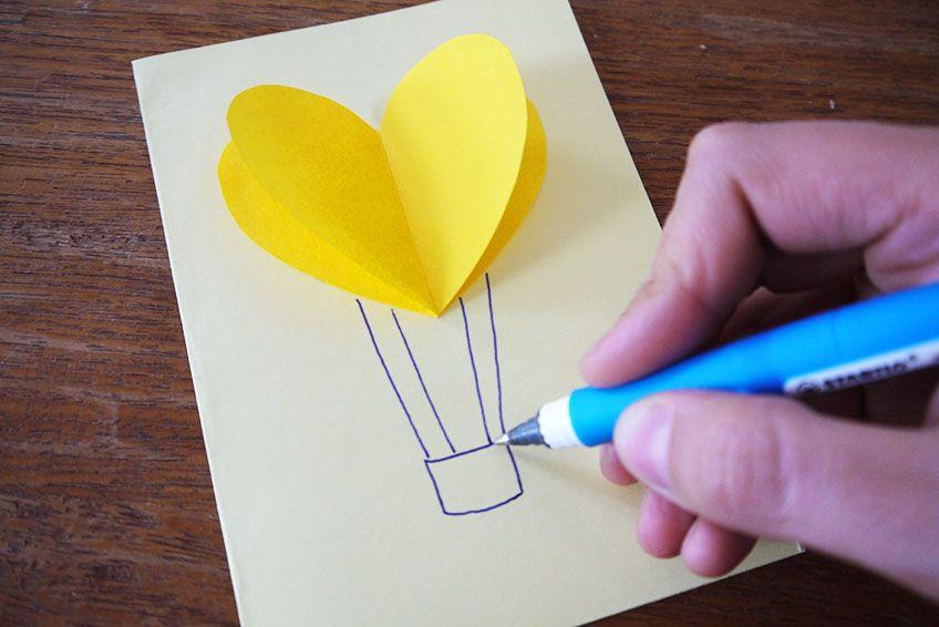 3d Karten Mit Herzen Mit Kindern Basteln Geburtstagskarte