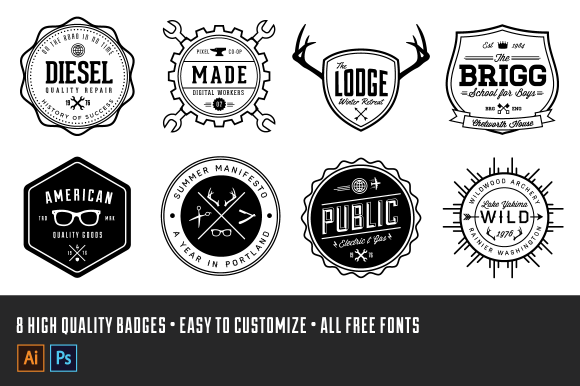Check out 65 vintage logos by voxelflux on creative market check out 65 vintage logos by voxelflux on creative market marketing for real estate pinterest logos logo templates and template pronofoot35fo Choice Image