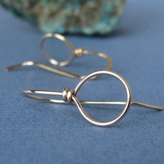 14k Gold Filled Ear Wires, Handmade Earring Findings, Big Loop Wild ...