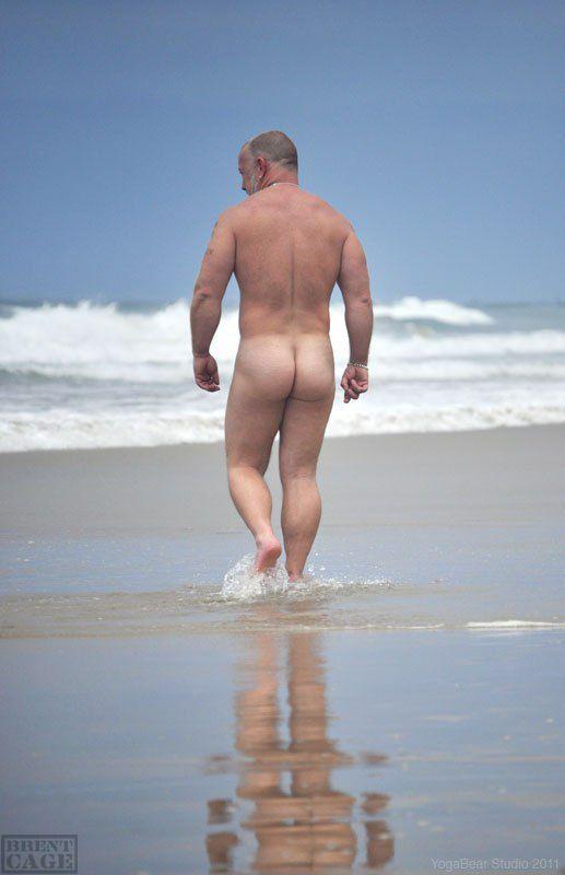 Mature beach ass