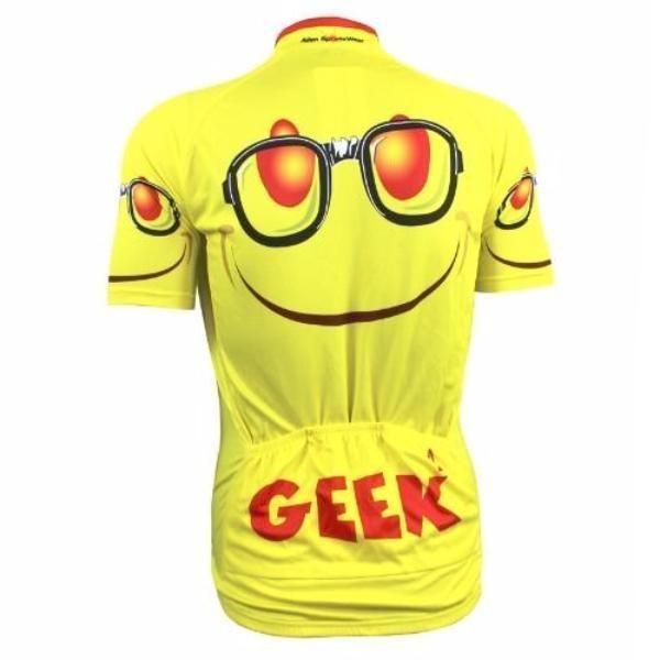 Geek Emoji Men s Yellow Cycling Jersey-Online Cycling Gear  92e4e2e49