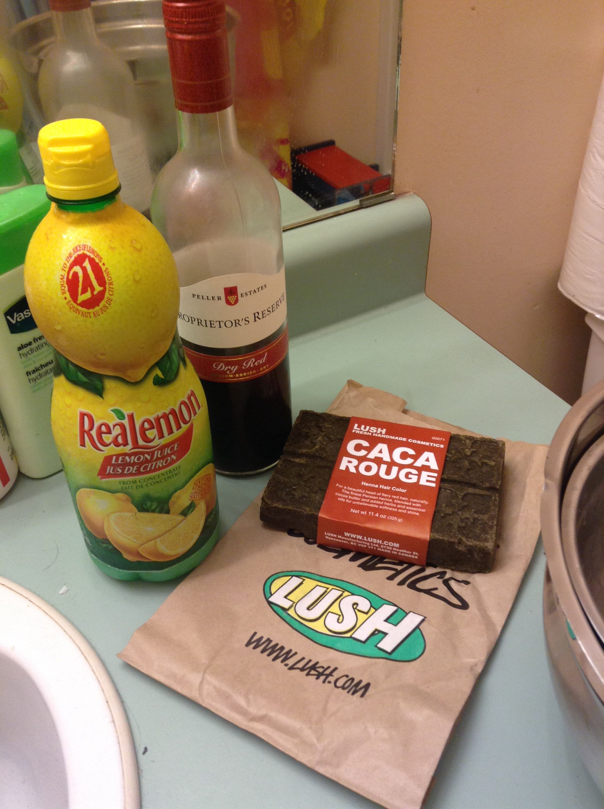 Lush Henna Caca Rouge Red Wine And Lemon Juice For
