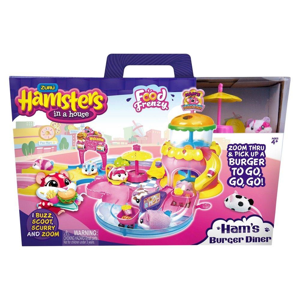 Zuru Hamsters In A House Ham S Burger Diner Burger Kids Packaging Diner