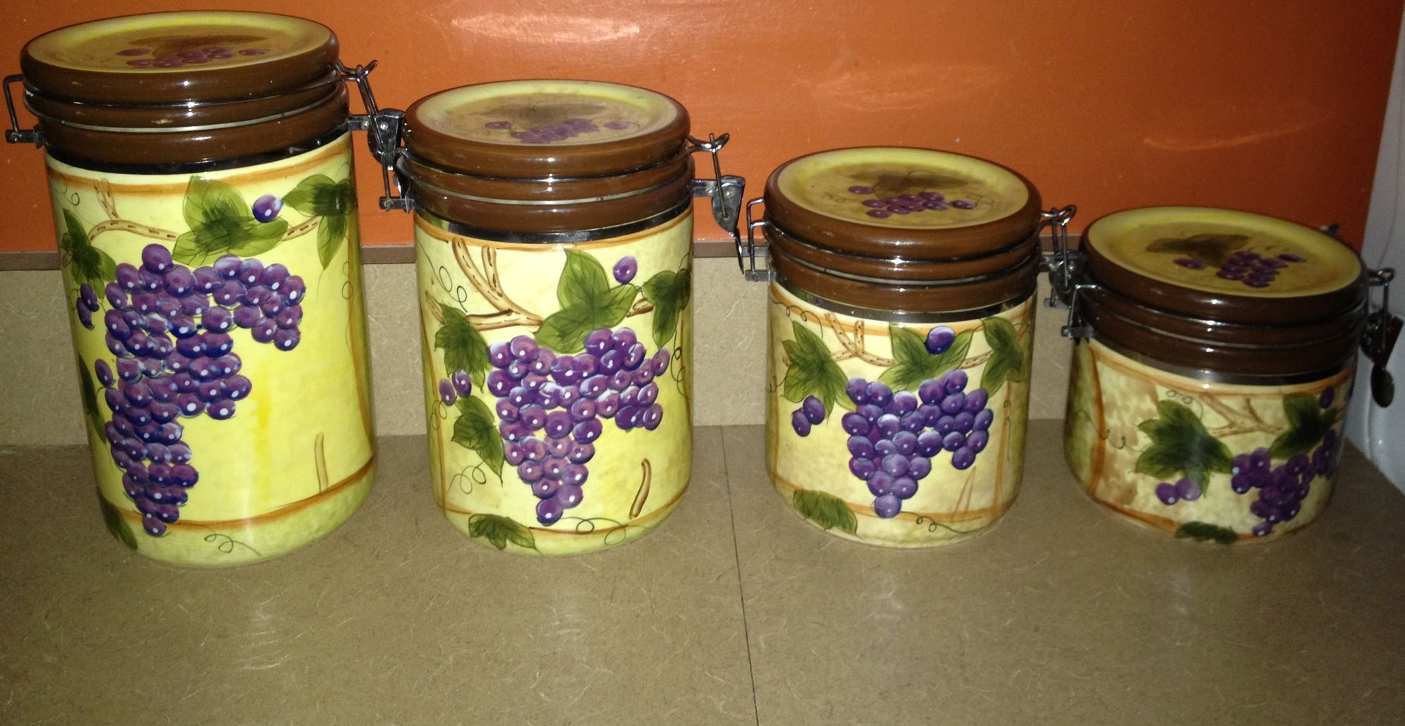 tuscan kitchen canisters under sink mat tuscany decor from kirkland 39s