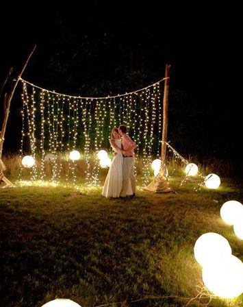 Awesome Idea For A Backyard Night Party I Realize Thats Not Whats Happening In The