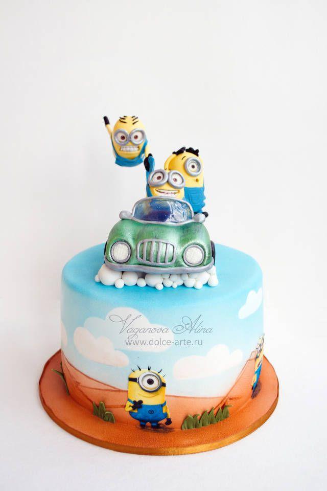 minions cake - Cake by Alina Vaganova - CakesDecor