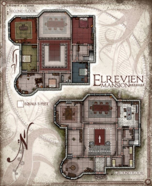 Soldel Mansion Role Playing Dungeon Maps Fantasy Map Map