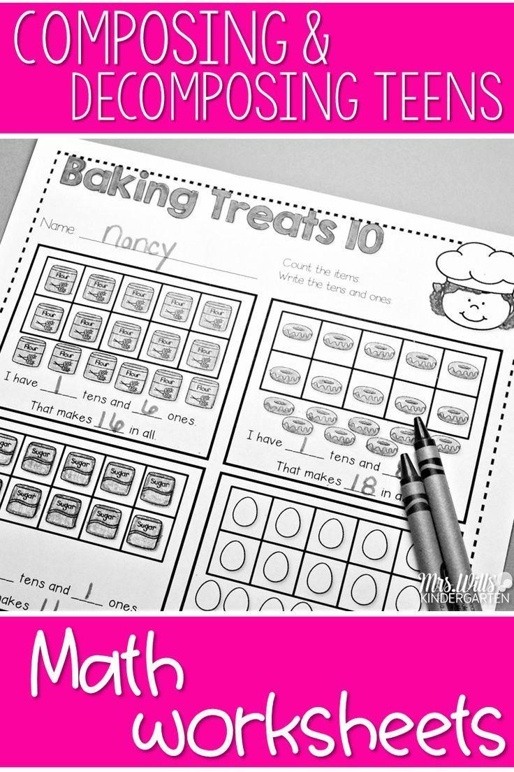 Enchanting Prek Kinder Math Cut And Free Maths Worksheets For Kids ...