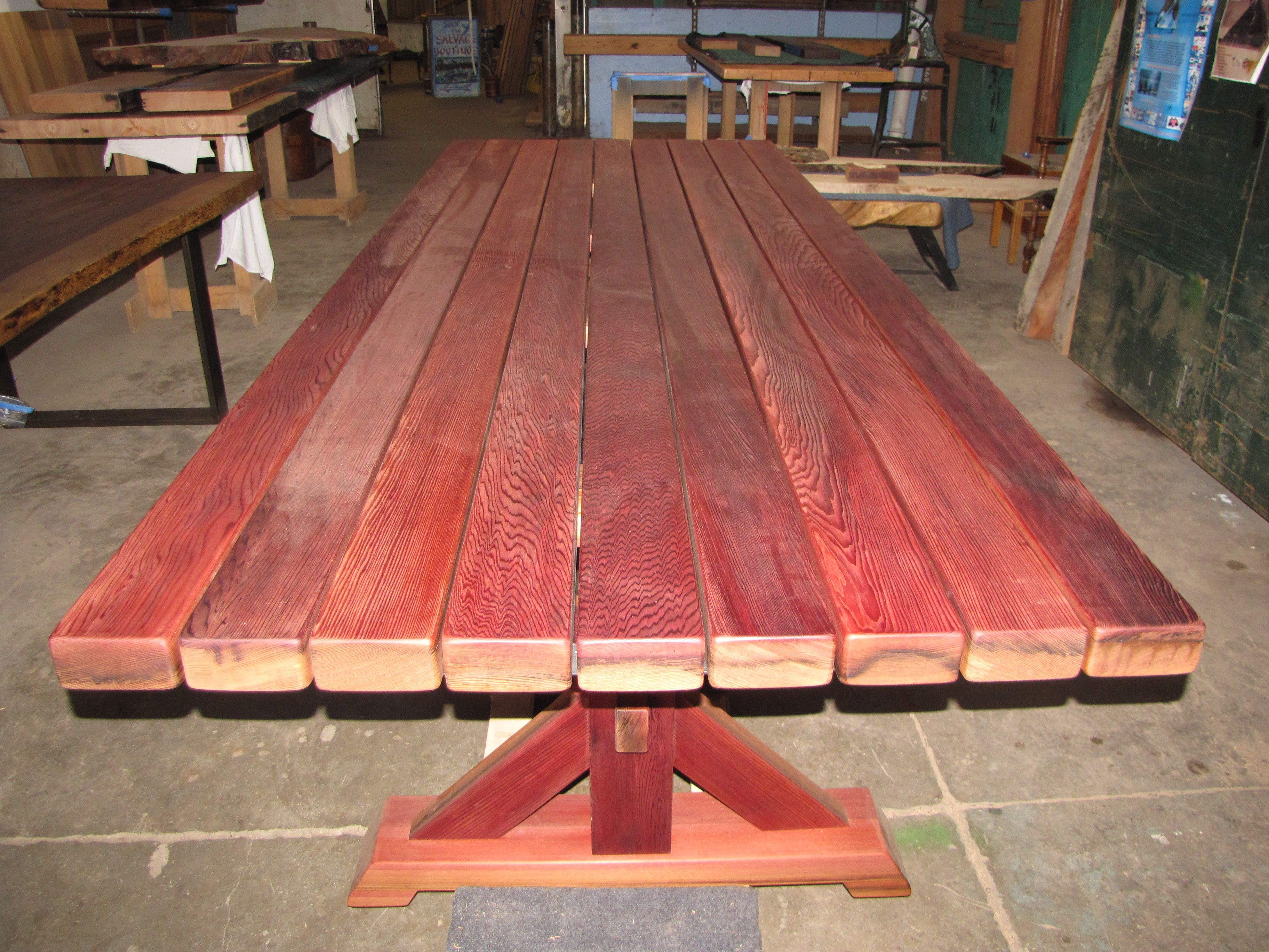 Clear old growth Redwood wine tank staves from Rodney strong