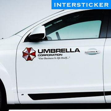 Car Sticker By Inthesticker Resident Evil Umbrella Corporation Umbrella