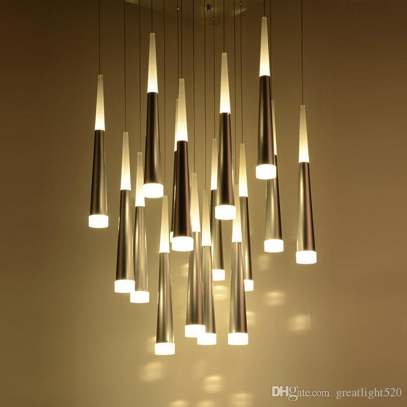Art Meteor Shower Led Cone Ceiling Pendant Light Restaurant Cafe