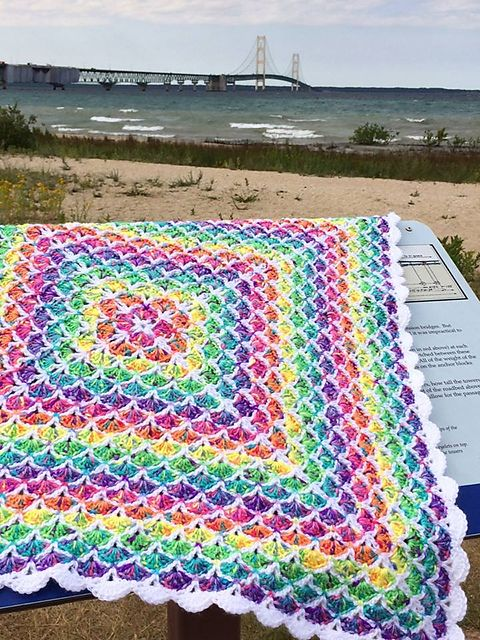Herself10s Gumdrops My Picot 4025beautiful Shells Baby Blanket