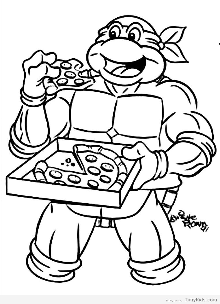 Ninja Turtles Printable Coloring Page Turtle Coloring Pages