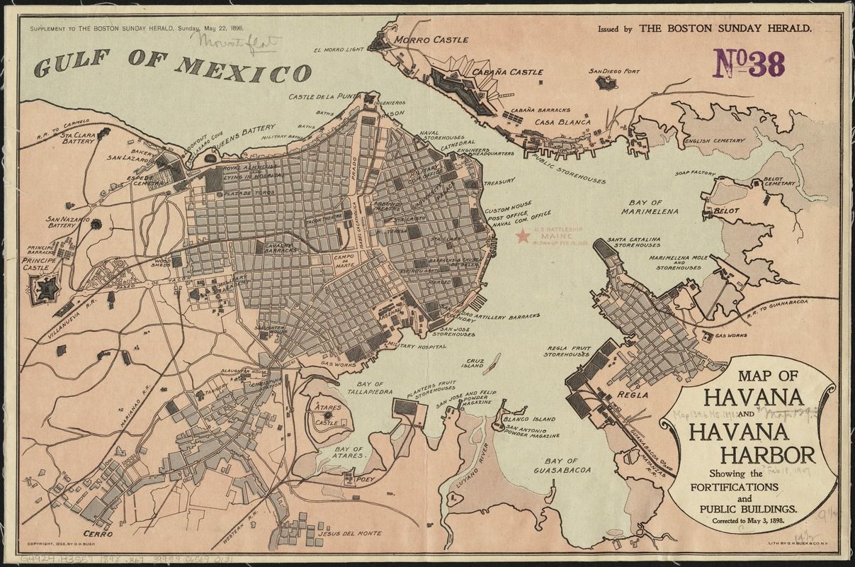 Content 1207800 havana pinterest havana content and map of havana and havana harbor showing the fortifications and public buildings gumiabroncs Image collections