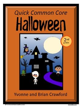 Halloween Quick Common Core  is a packet of ten different math worksheets featuring a Halloween theme.