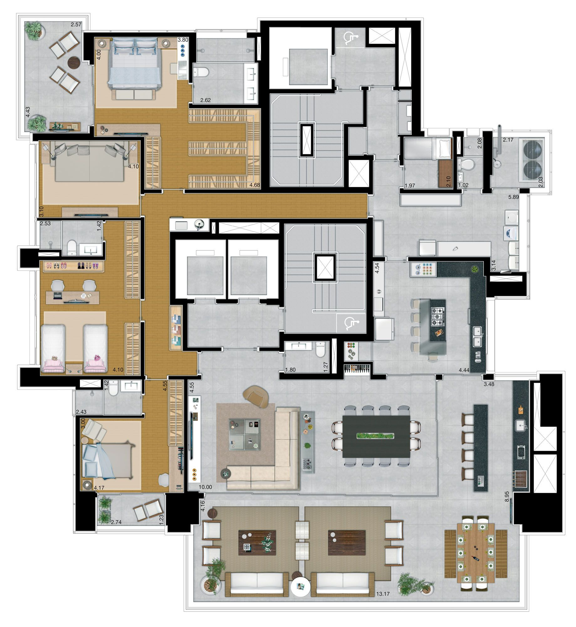 Helen – Apartamento Altíssimo Padrão Tatuapé com 374 m² 4 Suítes 6 ...