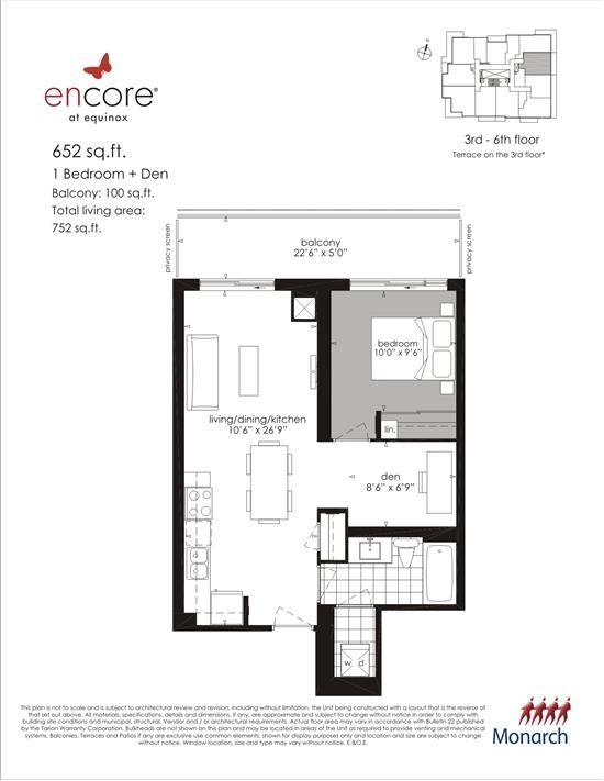 Encore At Equinox Plan 652 1 1br 652sqft Floor Plans How To Plan Apartment Floor Plan