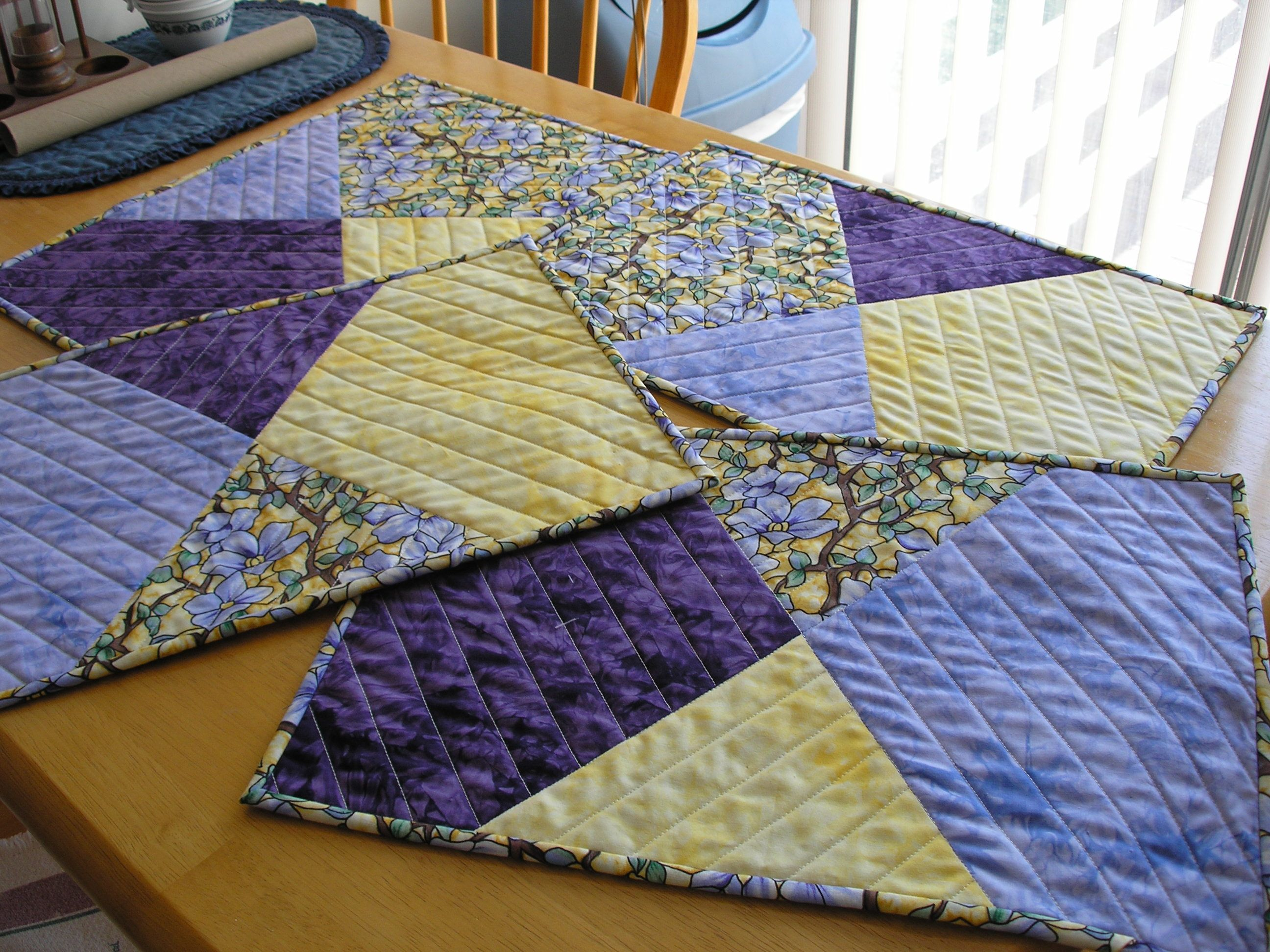 Quilted Placemats Quilts Quilted Placemat Patterns