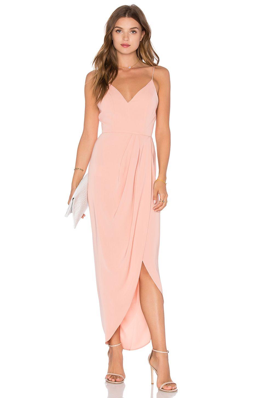 Shona Joy Stellar Drape Dress in Dusty Pink | REVOLVE | Clothes I ...
