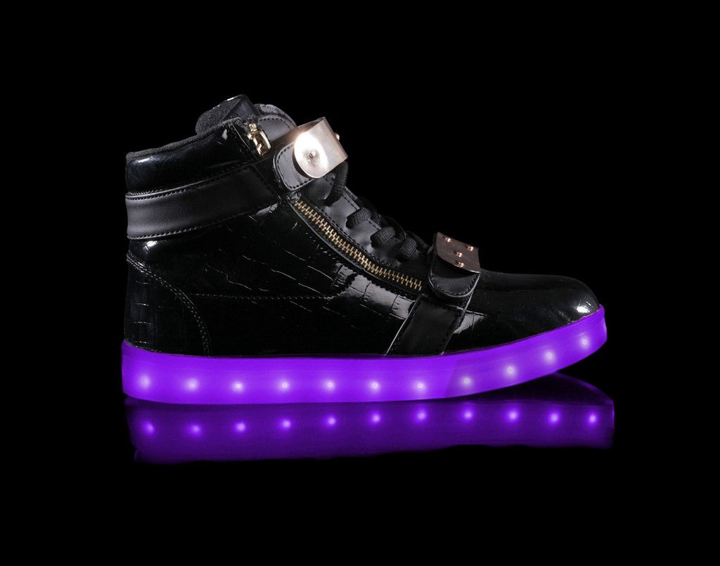 Hoverkick Mens Orion (Black) - Light up shoes for Adults are finally here! & Orion | Action Black and Black fabric azcodes.com