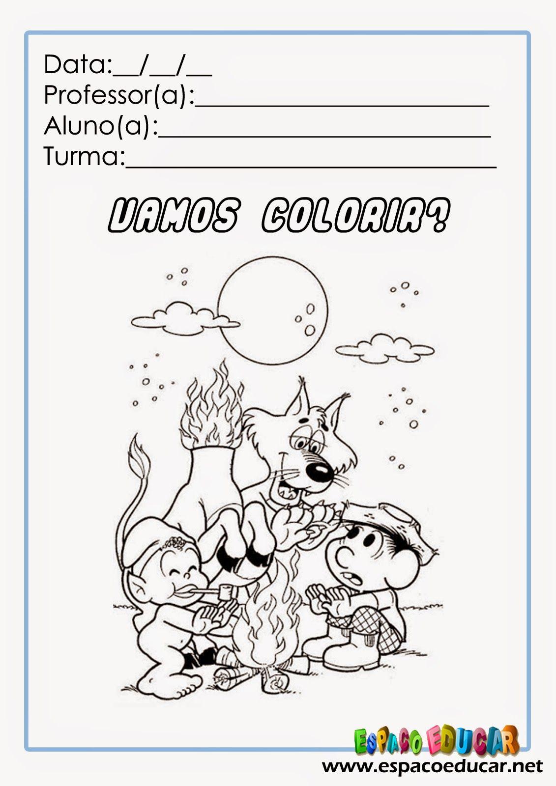 Atividade Colorir Turma Da Monica Folclore Desenho Pintar Www
