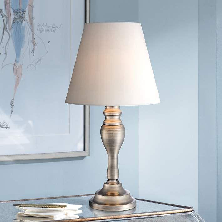 Thom 19 1 4 High Br Finish Touch Accent Table Lamp 5h371 Lamps Plus