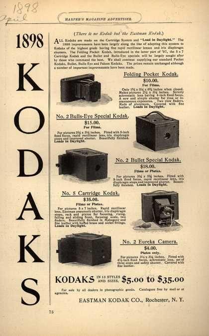 Kodak – 1898 Kodaks (1898) | History: Adverts | Vintage
