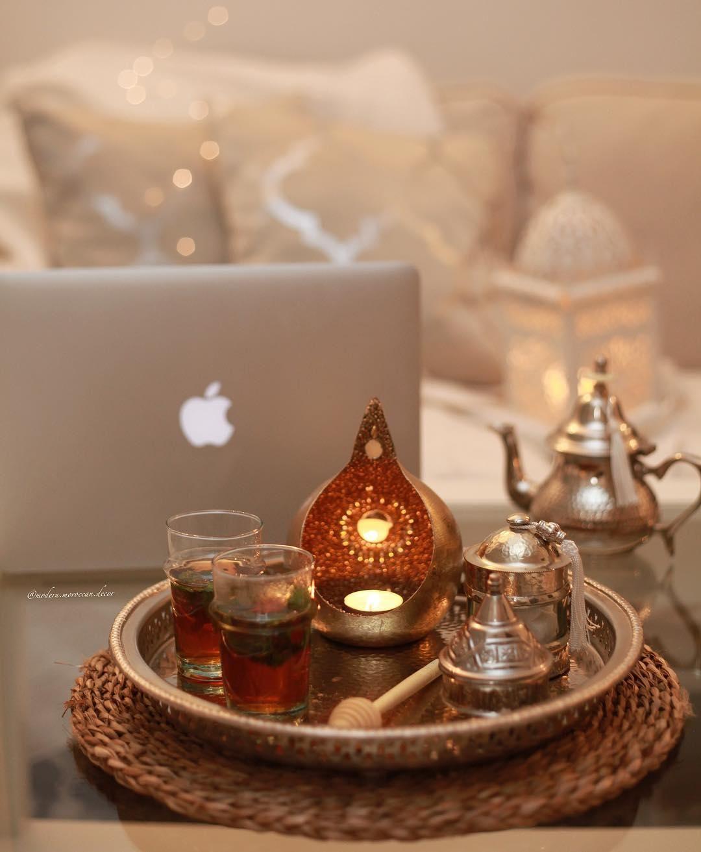 Gr e aus marokko orientalisches tee gedeck und ein - Dekoration orientalisch ...