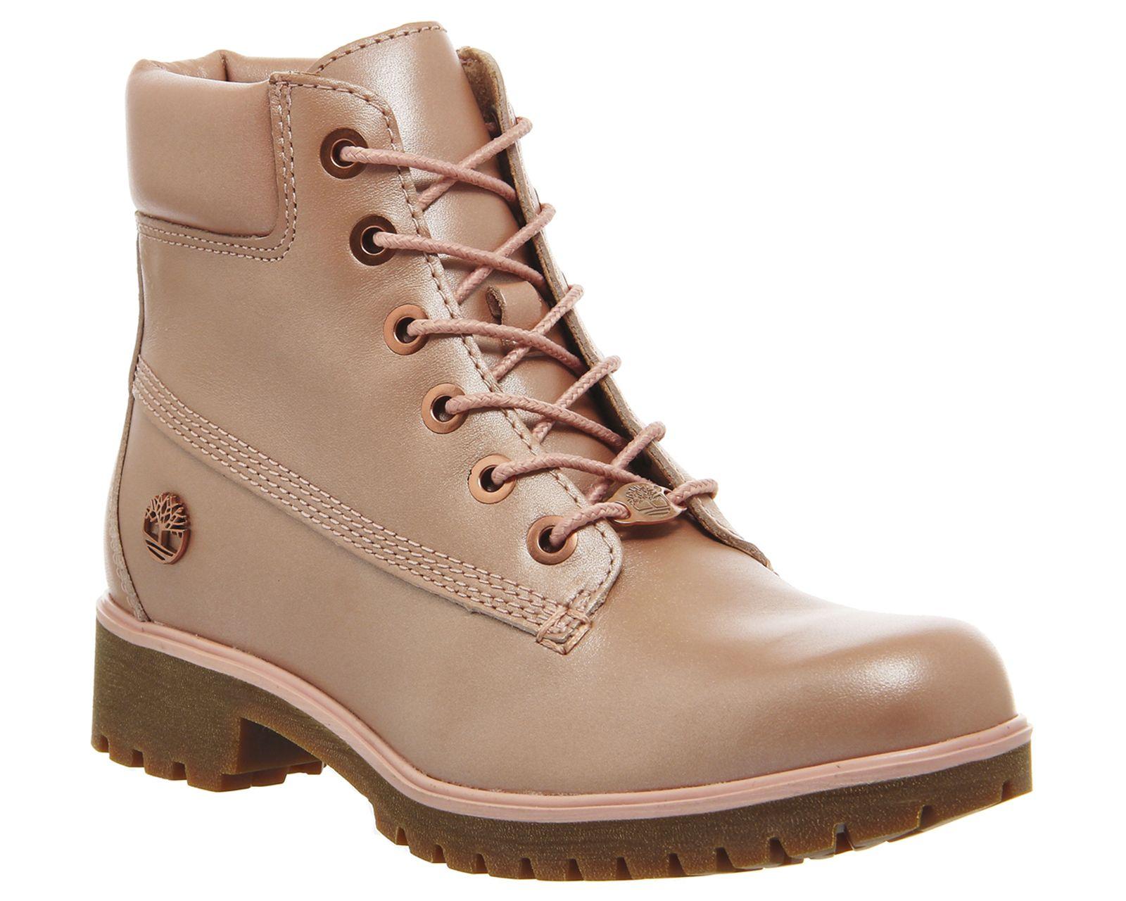 Timberland Slim Premium 6 Inch Boots Sherbert Pink Leather