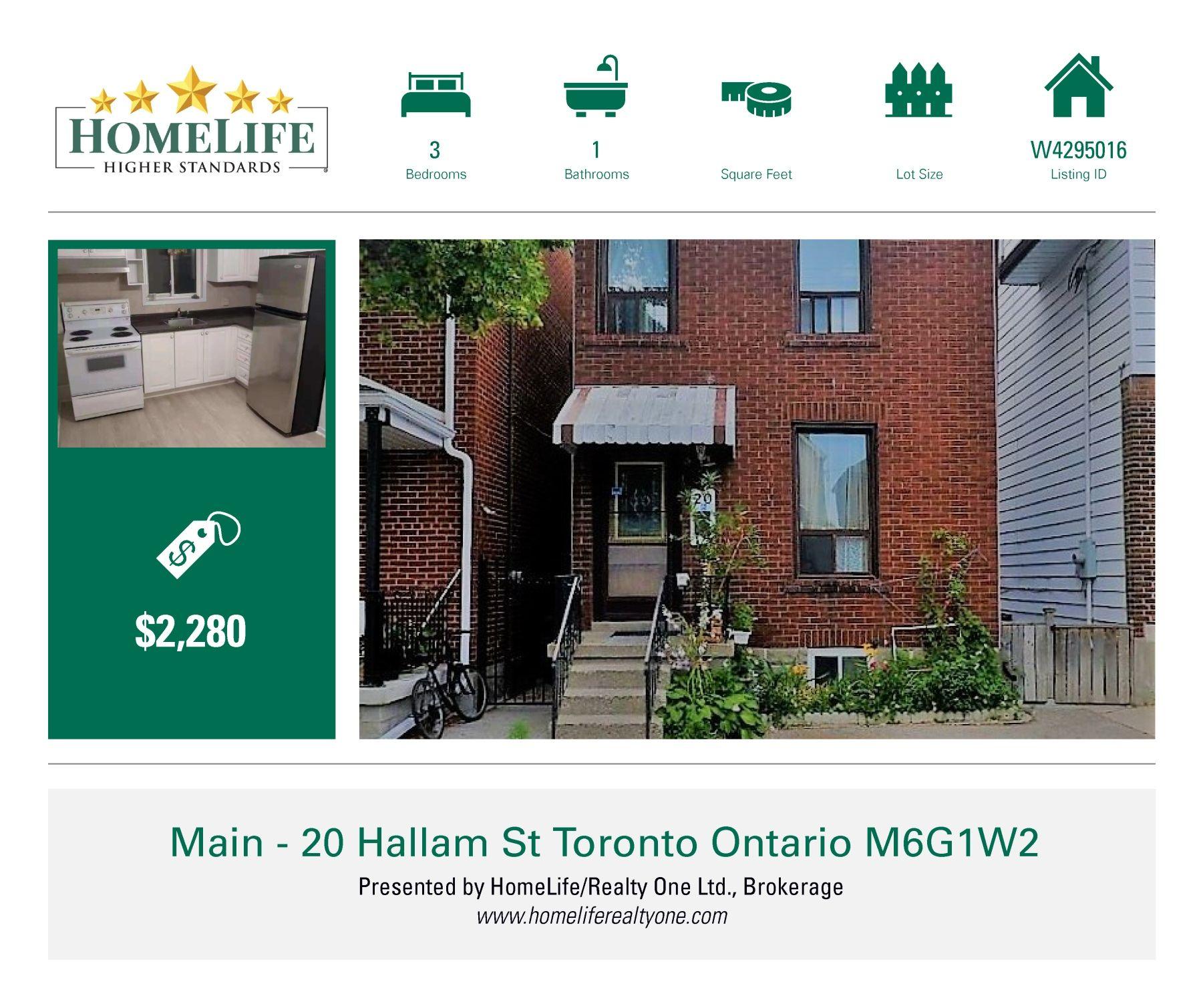 Excellent Apartment For Rent 20 Hallam Street Main Flr Toronto Download Free Architecture Designs Xoliawazosbritishbridgeorg