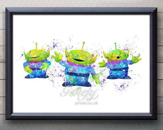 Little Green Men Toy story canvas quote wall decal photo painting pop art poster