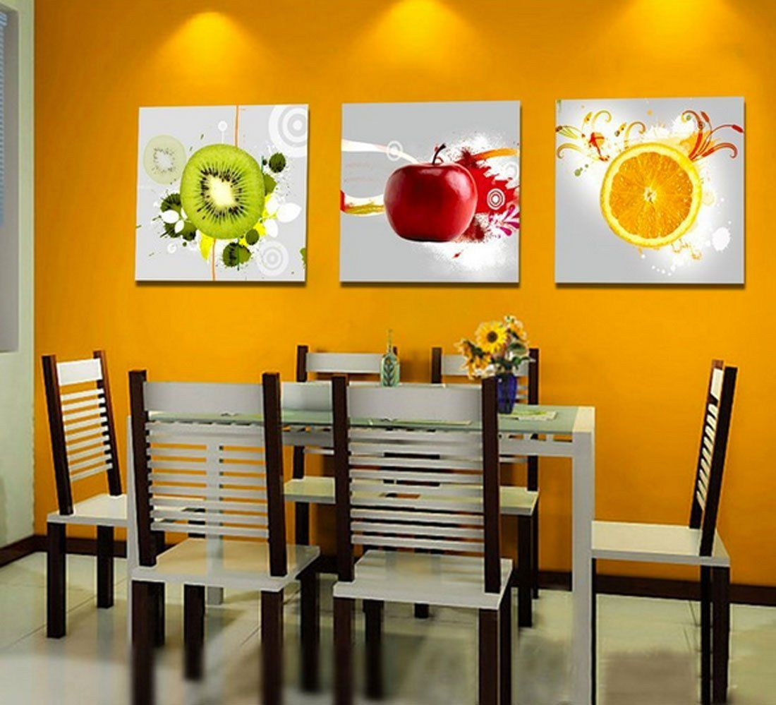 Amazon.com - Hot Sell 3 Panels 40 X 40 Cm Modern Paintings Of Fruits ...