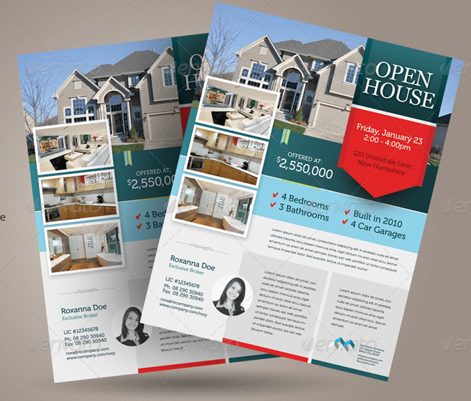 Graphic River Open House Flyer Template Flyer Templates - Free open house flyer template