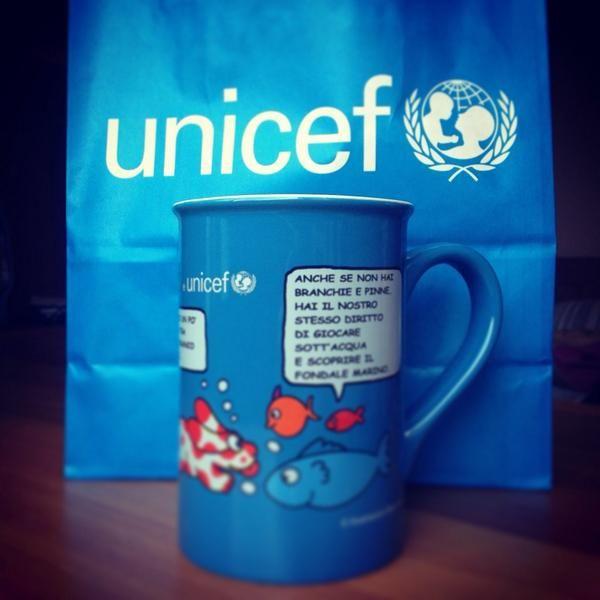 Sostengo il lavoro di UNICEF Italia comprando le tazze di Pimpa. In tutte le piazze italiane, il 4 e 5 ottobre.