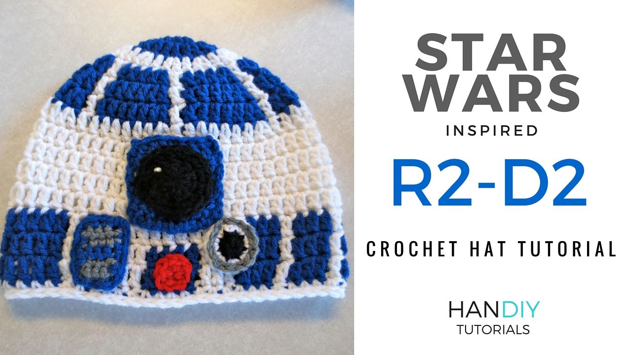 HanDIY Tutorials: R2-D2 Crochet Hat Tutorial free pattern star wars ...