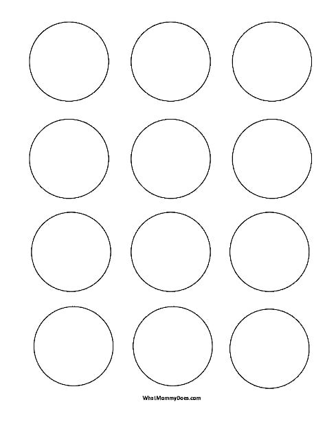Circle Templates Small 2 Inch Shapes Pdf Onedrive