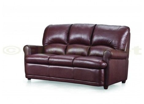 Bradley Italian Leather Sofa Bed - Thick back and seat cushions ...