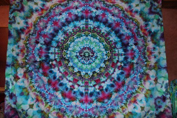 Ice Dye Mandala Tapestry Tie