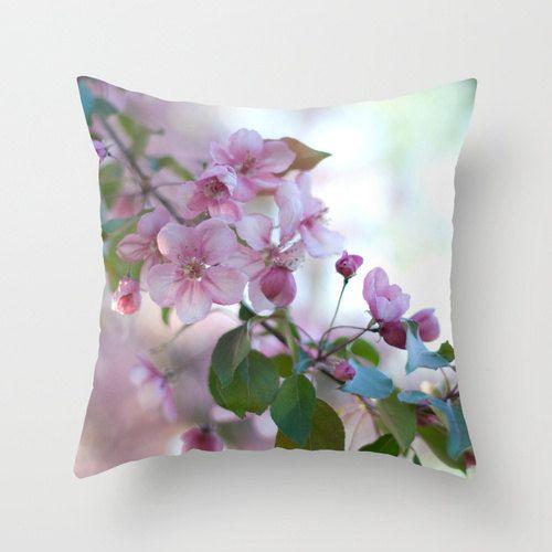 Decorative Throw Pillow Covers Spring Throw Pillows Pink Handmade Pillow Home Decor Pink Floral Spring Throw Pillows Handmade Throw Pillow Floral Pillow Cover