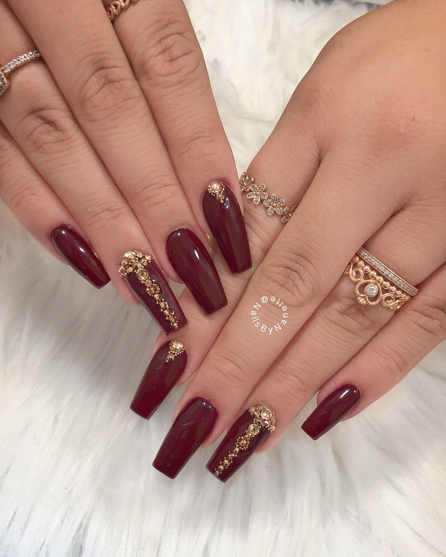 Nails By Nanette Burgundy Nails Maroon Nails Red Nails