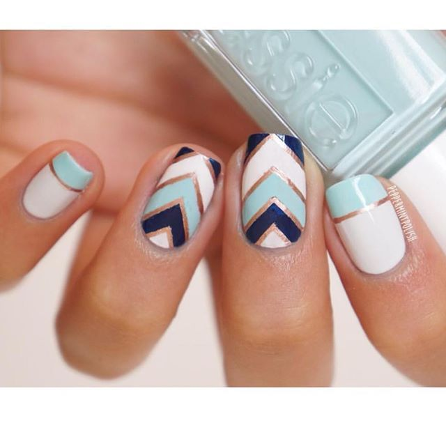 Credit To Peppermintpolish Nails2inspire Nails Pinterest
