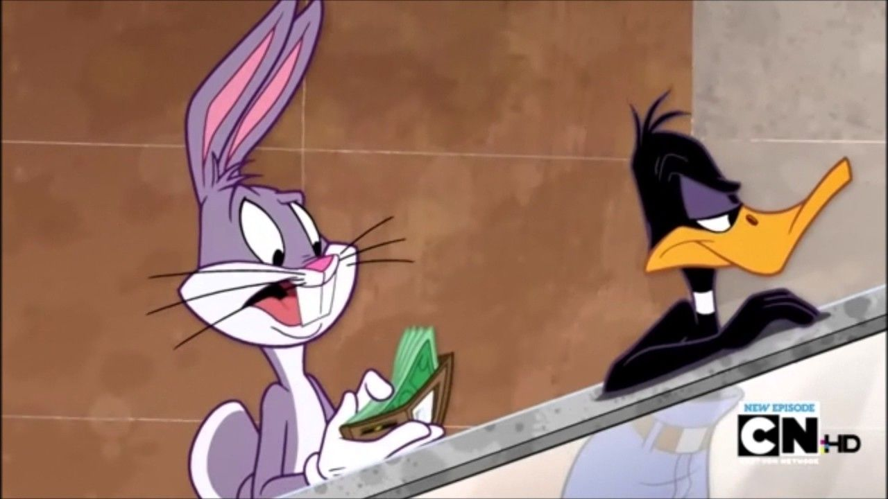 Daffy Duck S Mall Pants Looney Tunes Show Funny Moments The Looney Tunes Show S01e11 Peel Of Fortune Looney Tunes Show Looney Tunes Looney Tunes Characters