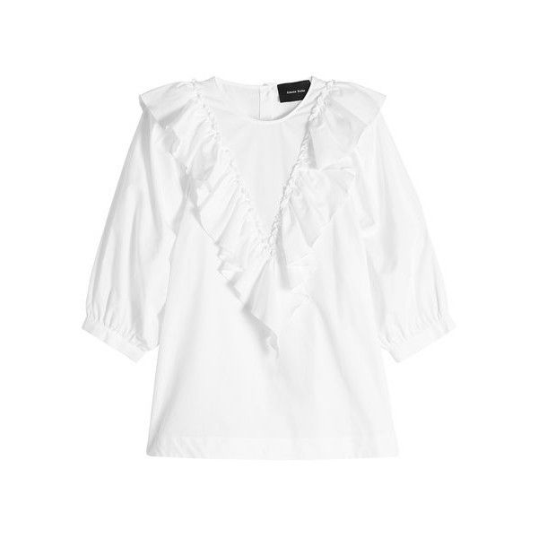 0b6a5f640c66c Simone Rocha Cotton Blouse ( 449) ❤ liked on Polyvore featuring tops