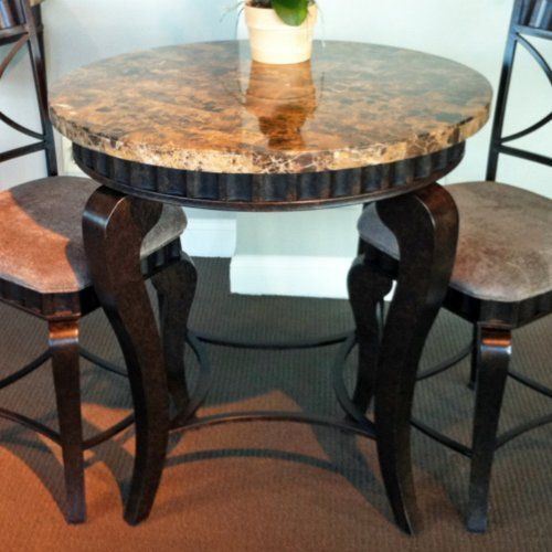 Steve Silver Company Steve Silver Hamlyn Marble Top Dining Table Enchanting Hamlyn Dining Room Set Decorating Inspiration