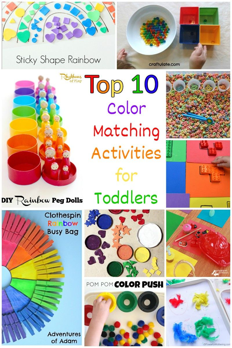 Activities for colors for toddlers - Top 10 Color Matching Activities For Toddlers
